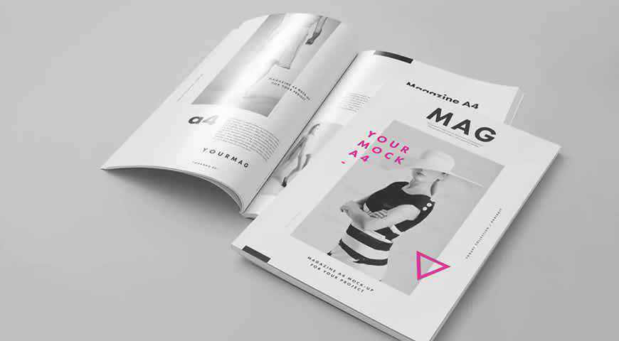 Fully layered psd file with smart objects for customizing the visible pages. 20 Professionally Designed Magazine Mockup Psd Templates