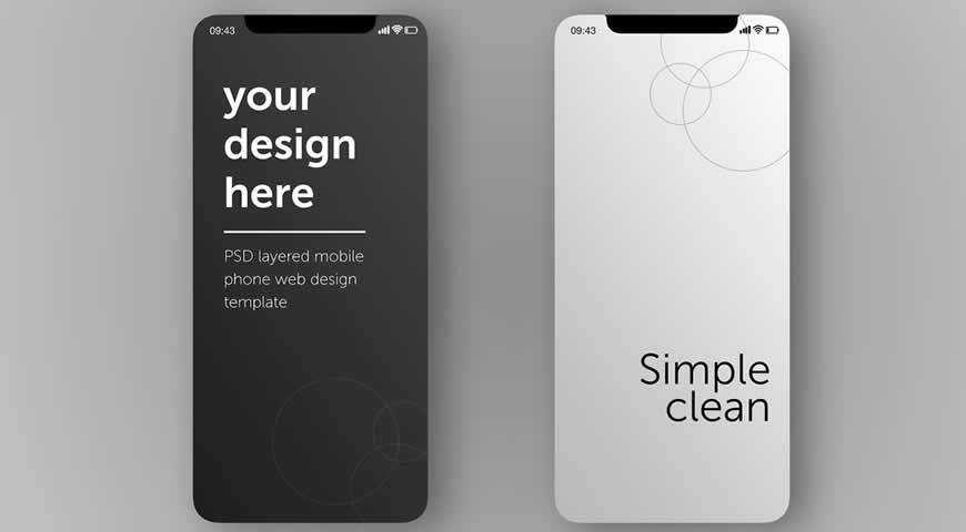 Smartphone Screens Photoshop PSD Mockup Template
