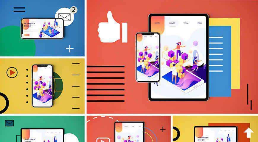 Social Media App Photoshop PSD Mockup Template