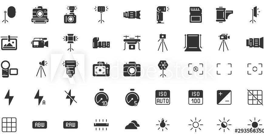 Silhouette Logo Template photographer camera photography