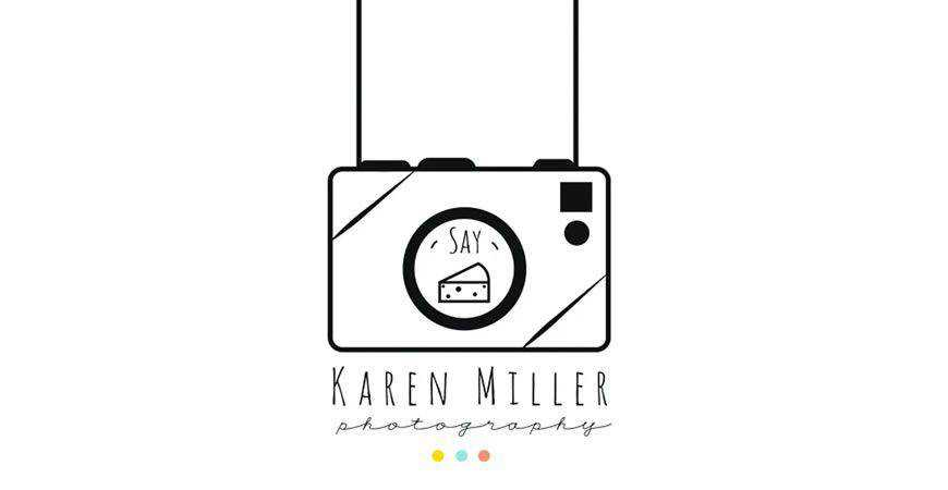 Say Cheese Illustrated Logo Template photographer camera photography
