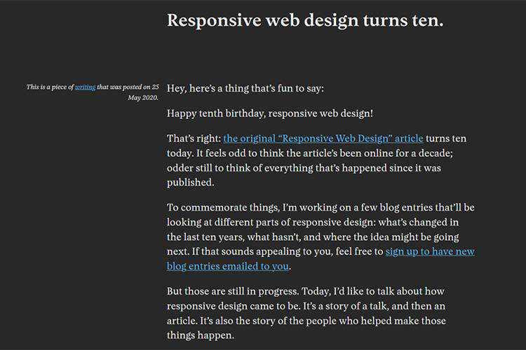 Example of Responsive web design turns ten.
