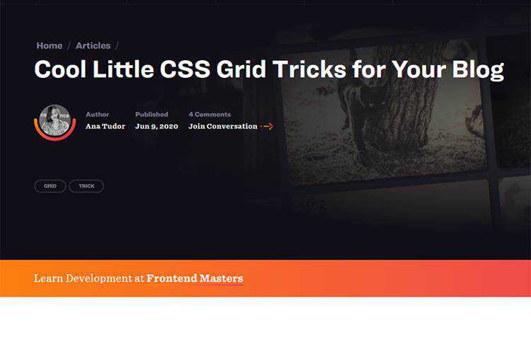 Example of Cool Little CSS Grid Tricks for Your Blog