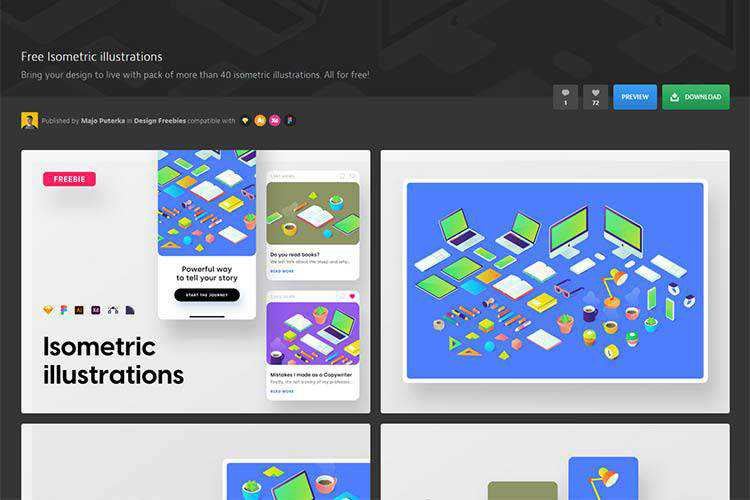 Example of Free Isometric Illustrations