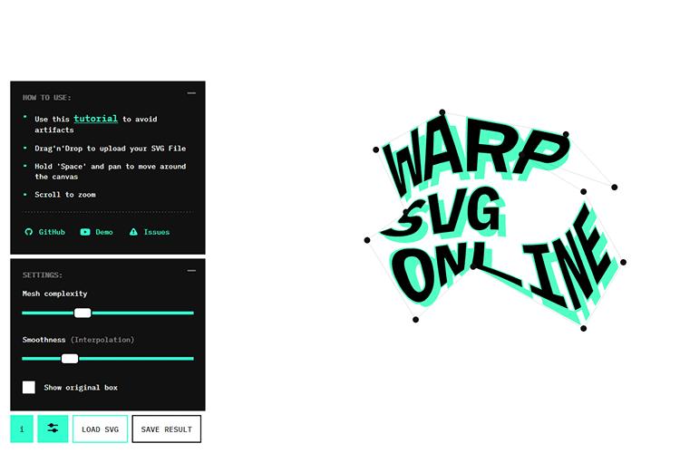 Example of Warp SVG Online