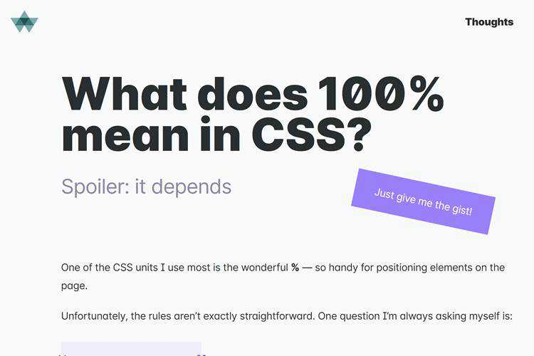 What does 100% mean in CSS?