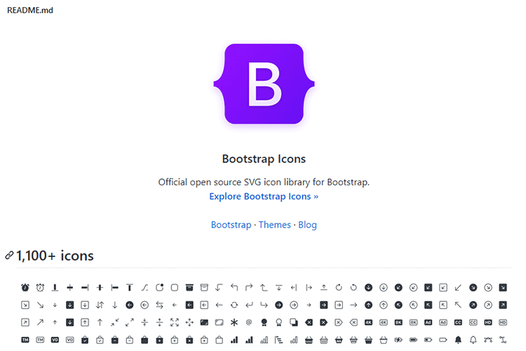 Example from Bootstrap Icons