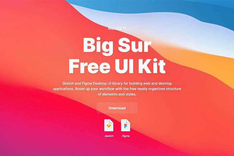 Example from Big Sur Free UI Kit