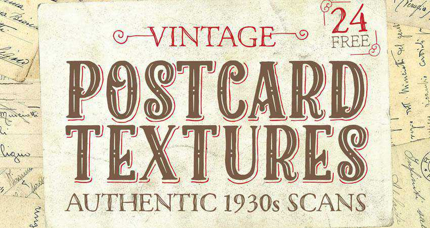 Authentic 1930s Vintage Postcard free high-res textures