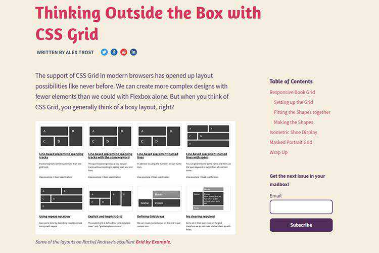 Example from Thinking Outside the Box with CSS Grid