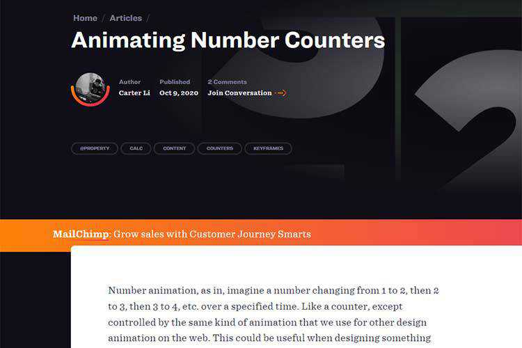 Example from Animating Number Counters