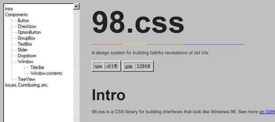 Example from 98.css