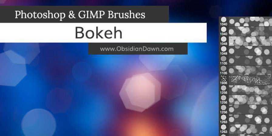 Bokeh Photoshop Brushes ABR