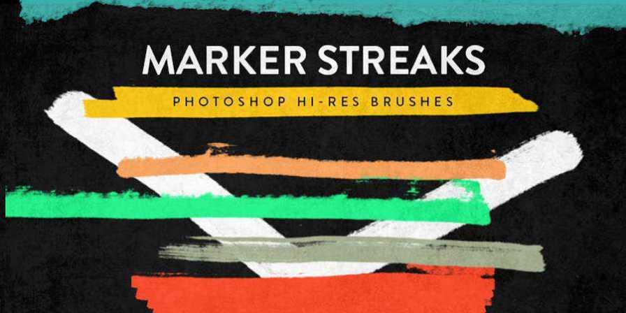 Marker Streak Brushes ABR