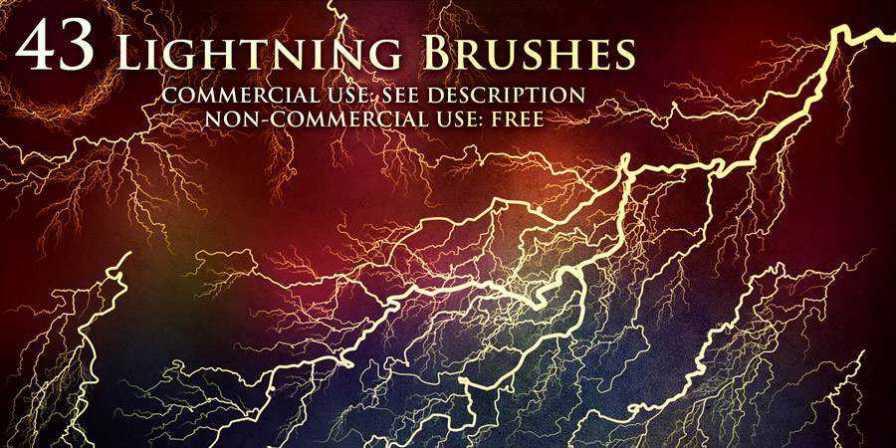 Lightning Photoshop Brushes ABR