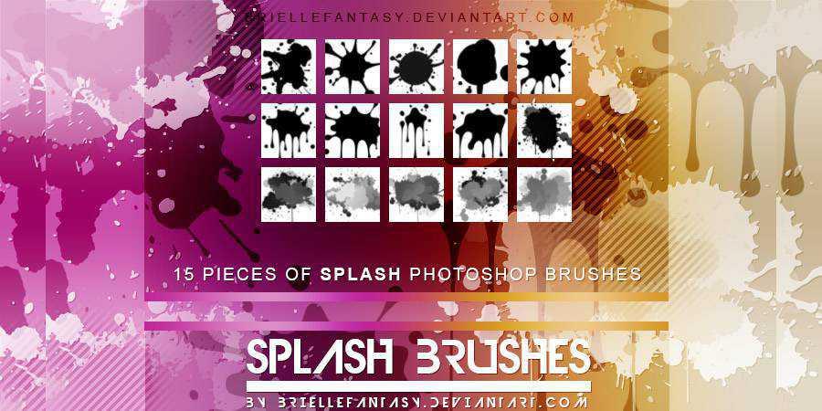 Splash Photoshop Brushes ABR