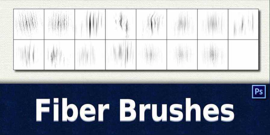 Free Photoshop Fiber Brushes there are 16 Brushes in the pack