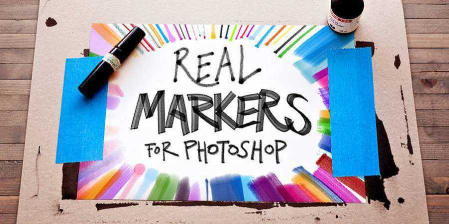 Real Markers Photoshop Brushes free brushes ABR