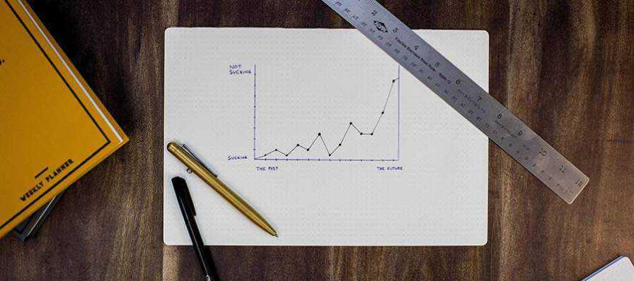 A chart displayed on a desk.
