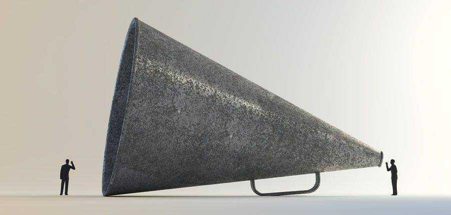 megaphone listen vintage good bad design ideas