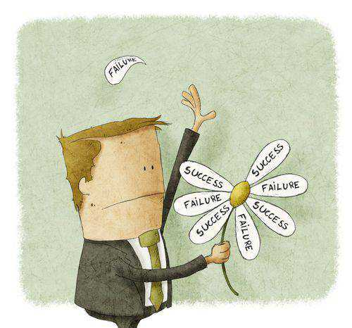 failure success man flower animated cartoon
