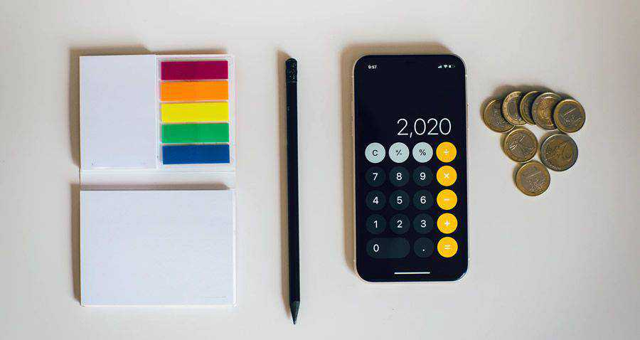numbers calculator neon pad notes money coins