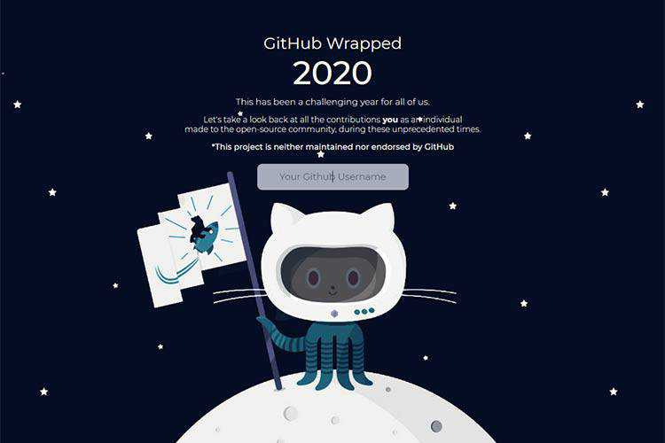 Example from GitHub Wrapped 2020