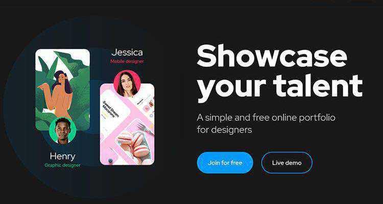case online portfolio for designers