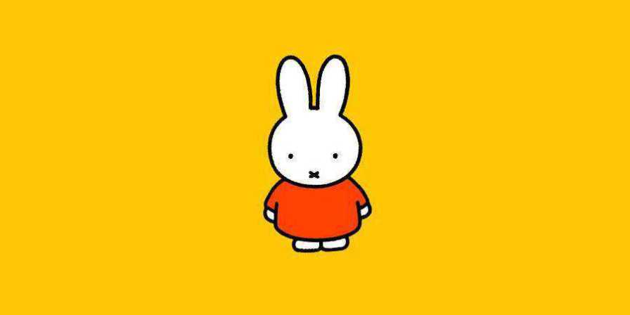 bruna character illustration yellow background