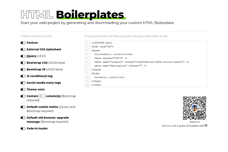 Example from HTML Boilerplates