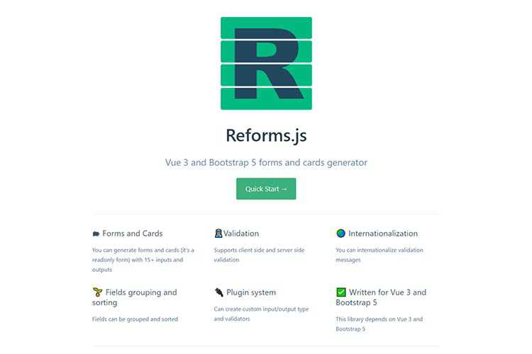 Example from Reforms.js