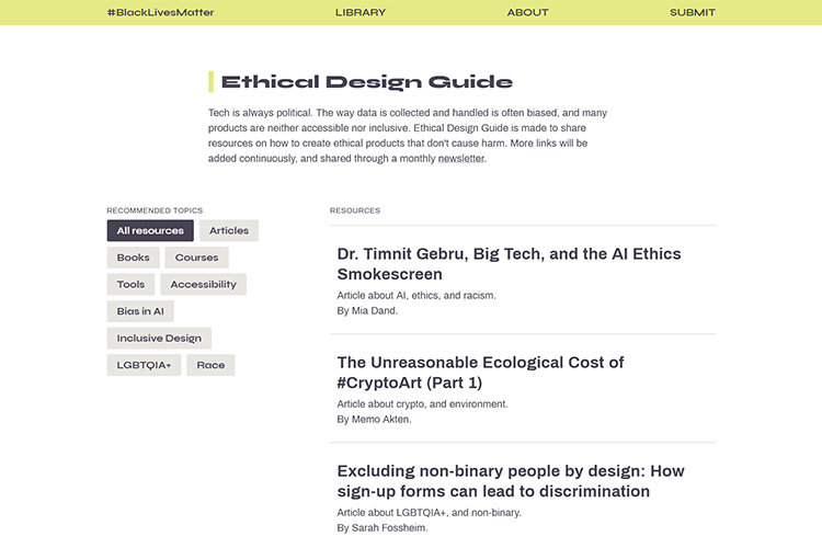 Example from Ethical Design Guide