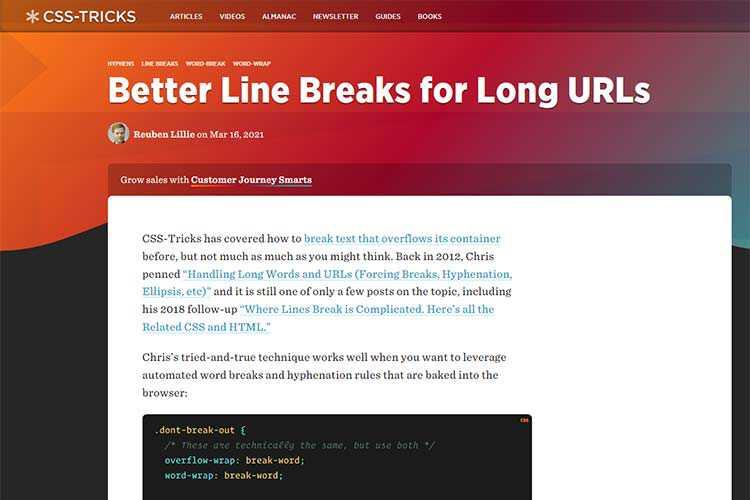 Example from Better Line Breaks for Long URLs