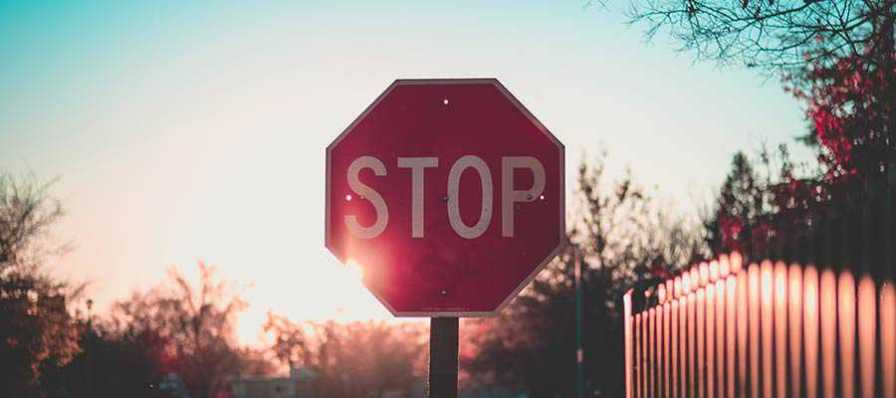 A stop sign.