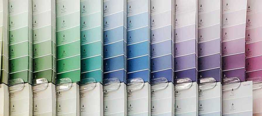 Color swatch cards.