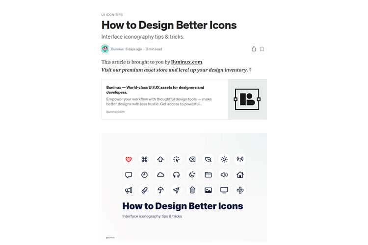 Example from How to Design Better Icons