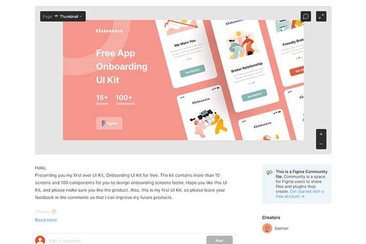 Example from Onboarding UI Kit