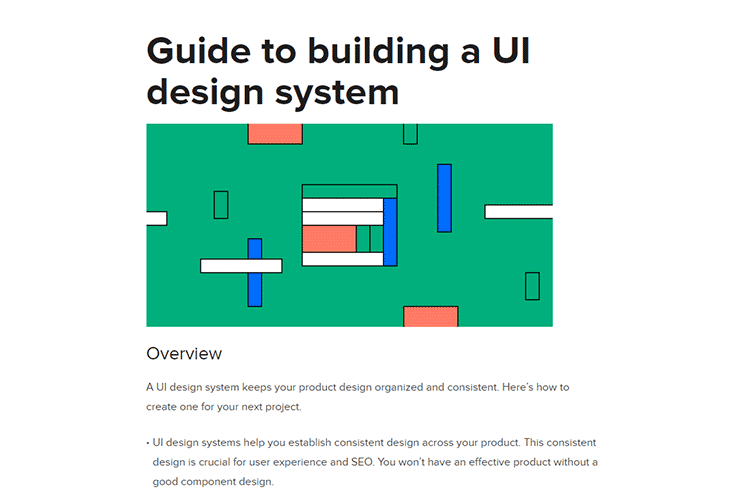 Example from Guide to building a UI design system
