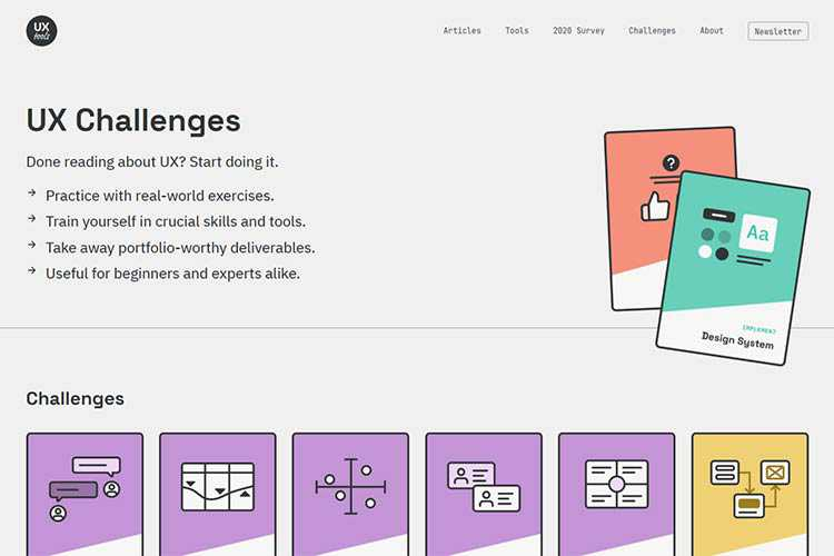Example from UX Challenges