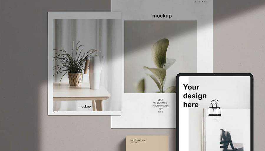 Presentation Mockup Template brand identity design inspiration logo