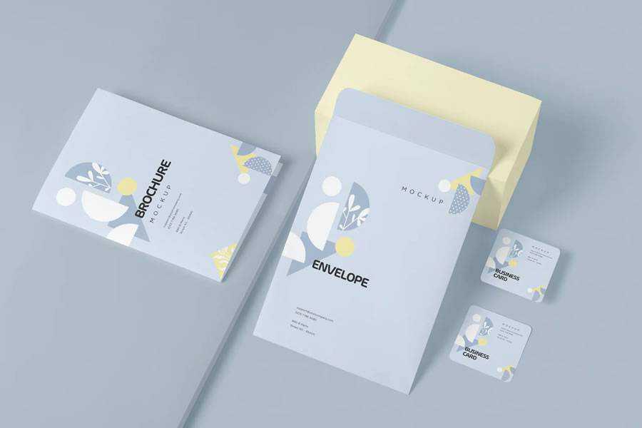 Stationery Mockup Template brand identity design inspiration logo
