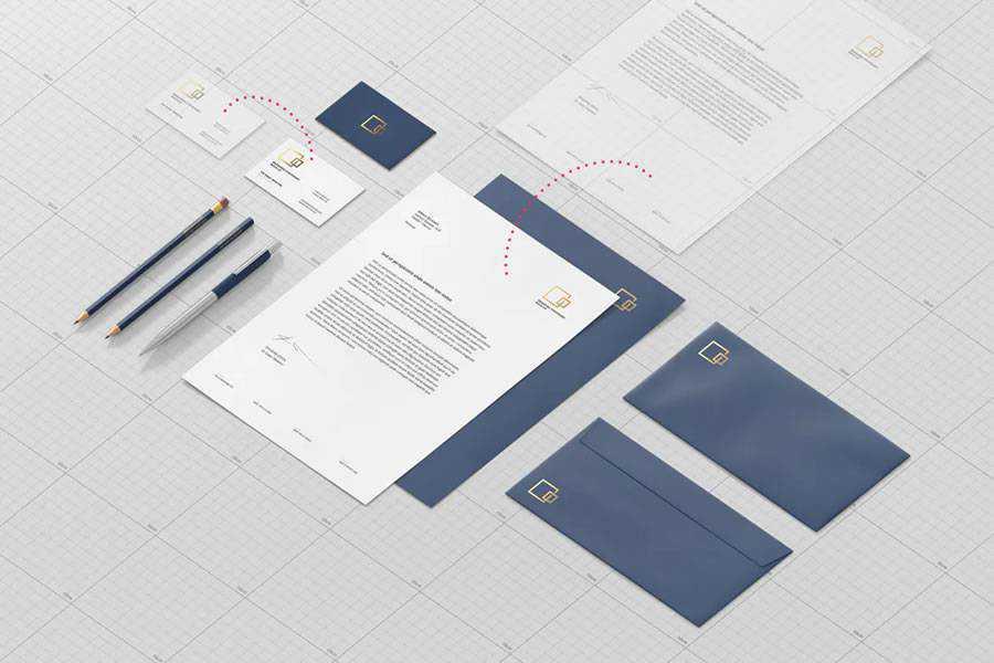 Stationary Branding Mockup Template brand identity design inspiration logo
