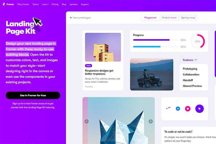 Example from Landing Page Kit