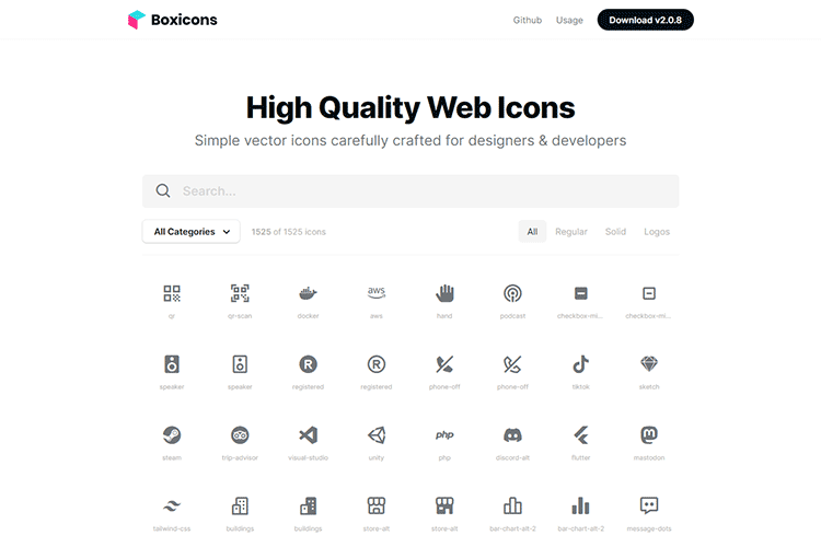 Example from Boxicons