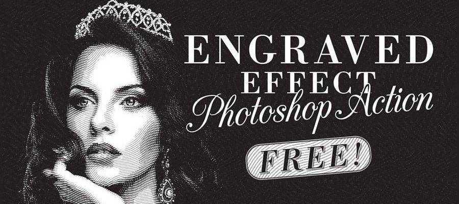 Engraved Illustration Effect vintage free photoshop action atn