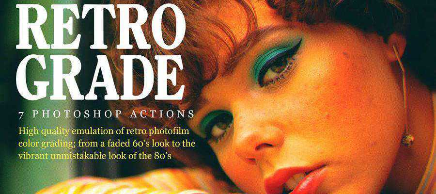 Retrograde Retro vintage photoshop action atn