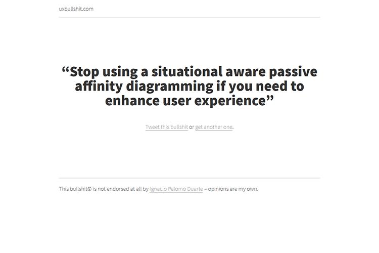 Example from uxbullshit