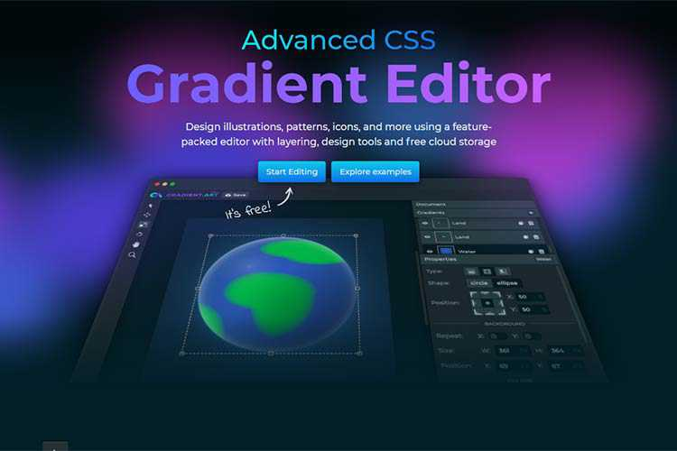 Example from Advanced CSS Gradient Editor