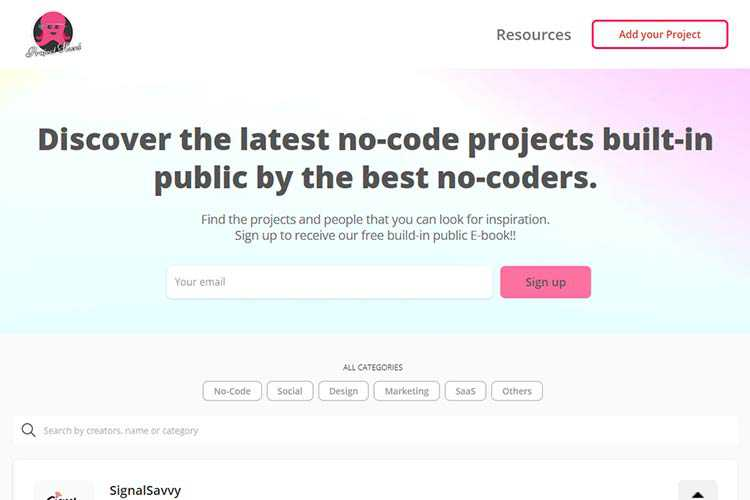 Example from Project Hunt