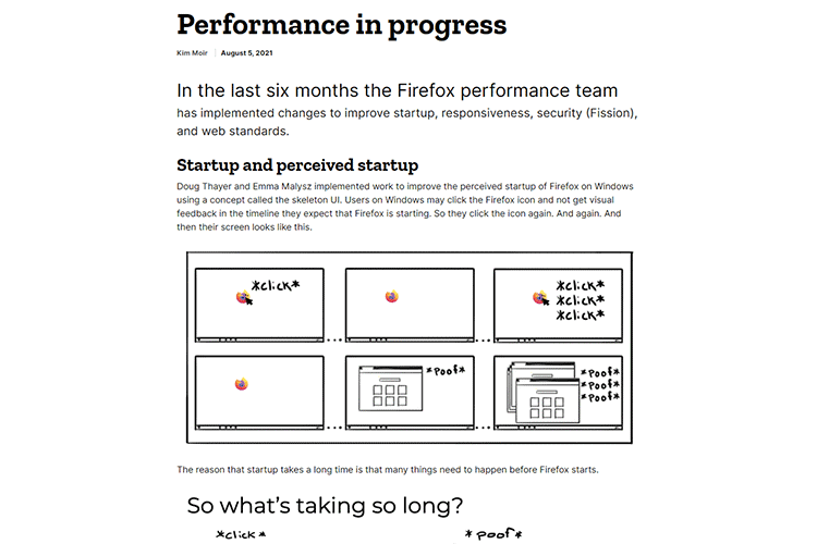 Example from Performance in progress